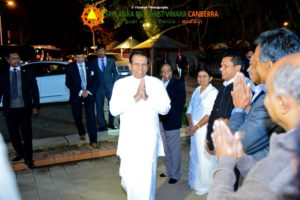 Sri Lanka President's Visit in the Temple