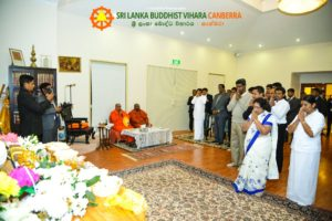 Sri Lanka President Visit in the Temple
